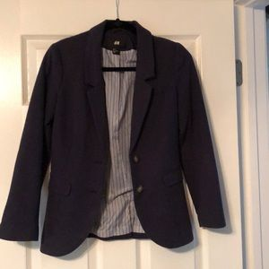 H&M Navy Blazer with elbow pads